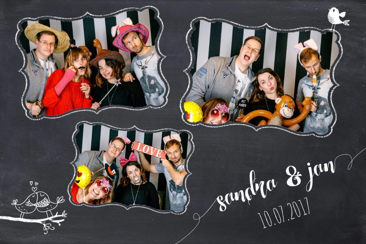 Premium Photobooth für eure Hochzeit in NRW: individueller Ausdruck Beispiel 2