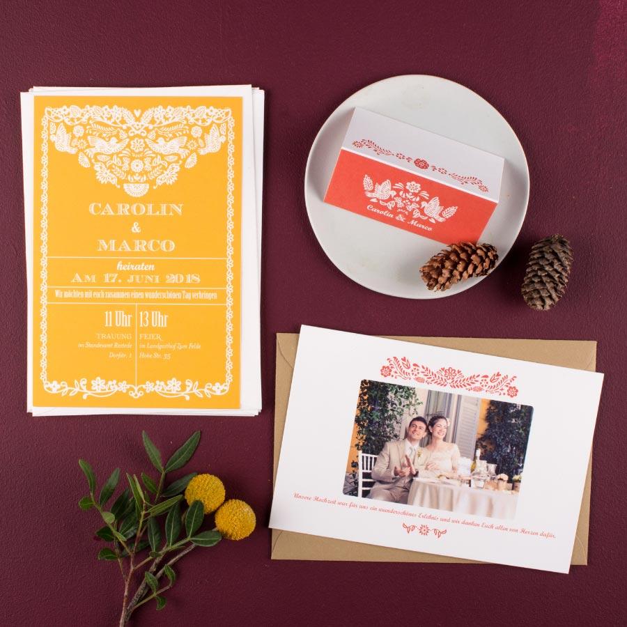 Modell Papel Picado von Rosemood - Hochzeitspapeterie mit Liebe gemacht