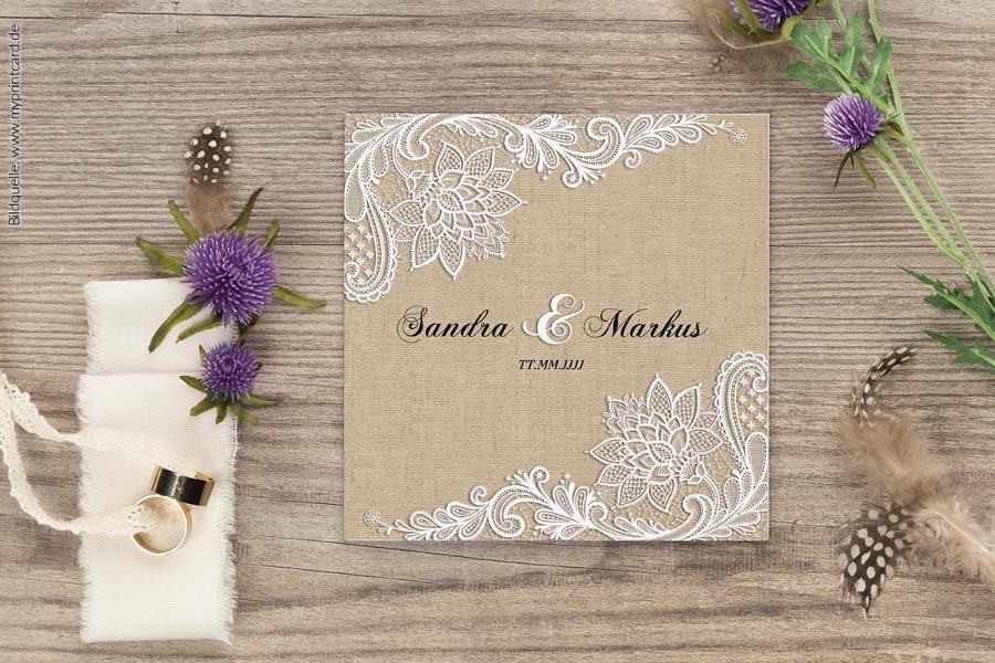 Lace Hochzeitseinladung von myprintcard