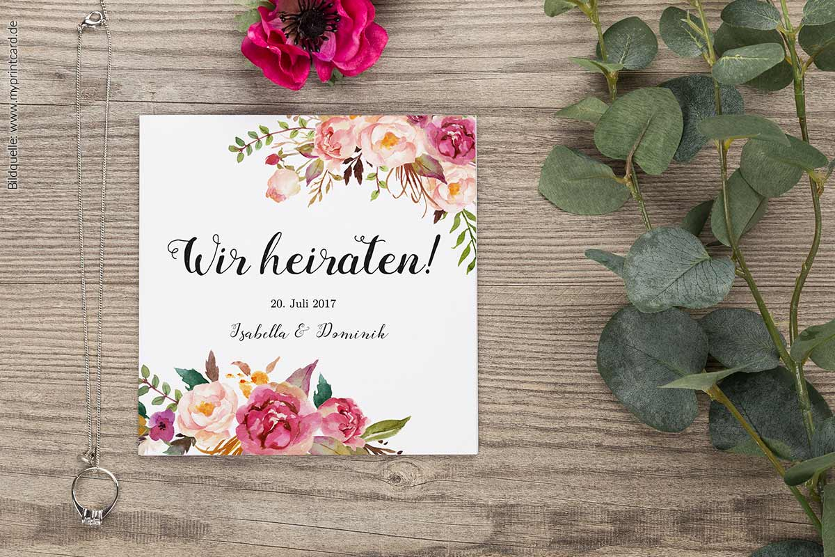 Unsere Lieblingspapeterie zur Hochzeit von myprintcard
