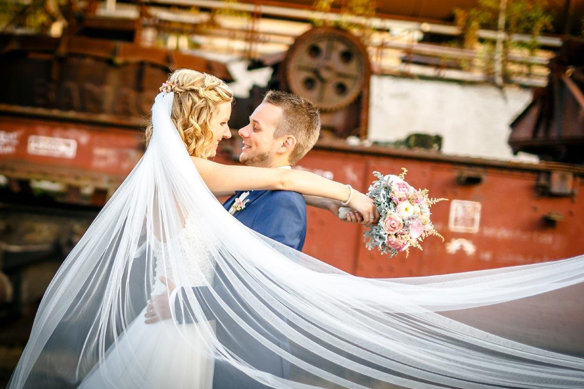 Die Industrie-Hochzeit von Inke & Matthias in der Henrichshütte Hattingen
