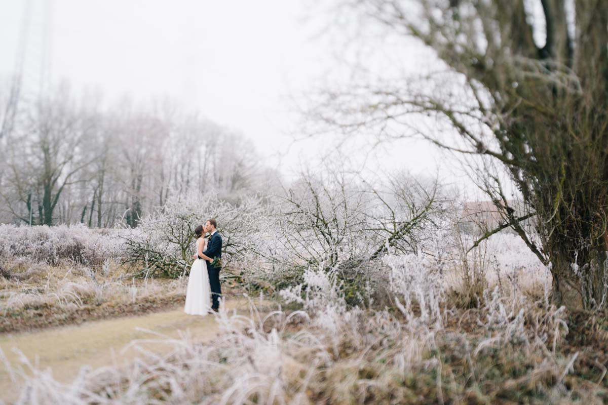 Winterliche Hochzeit von Vanessa & Florian mit Vintage Flair