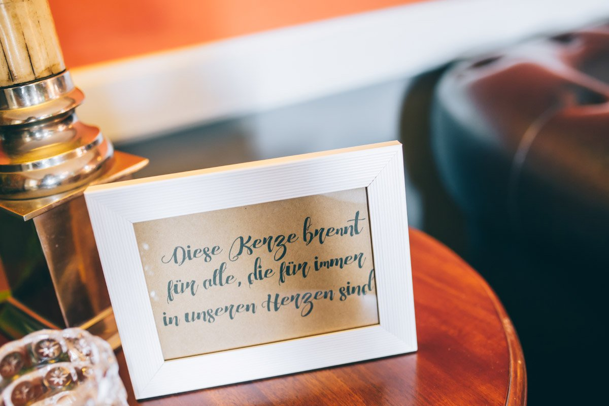 20 Beispiele um an verstorbene Personen bei der Hochzeit zu erinnern