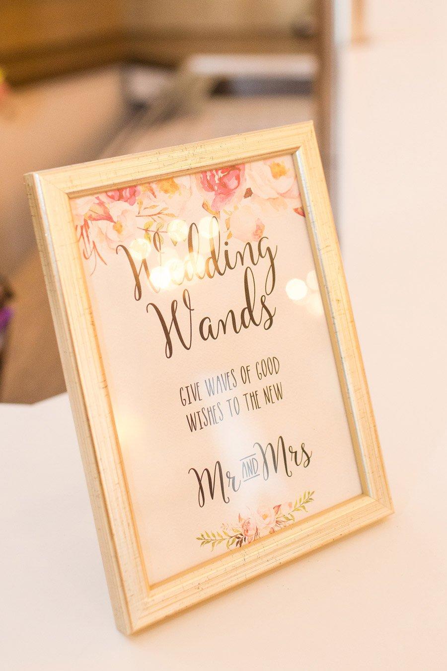 Schild für Wedding Wands