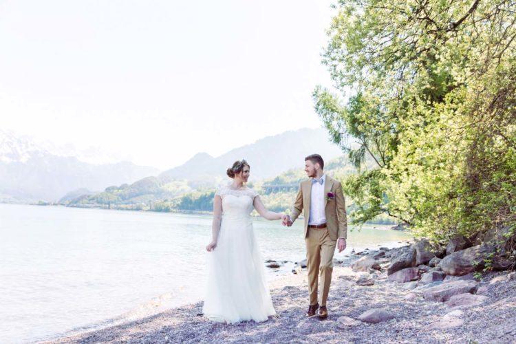 Hochzeit am Walensee in der Schweiz mit Alpen-Panorama