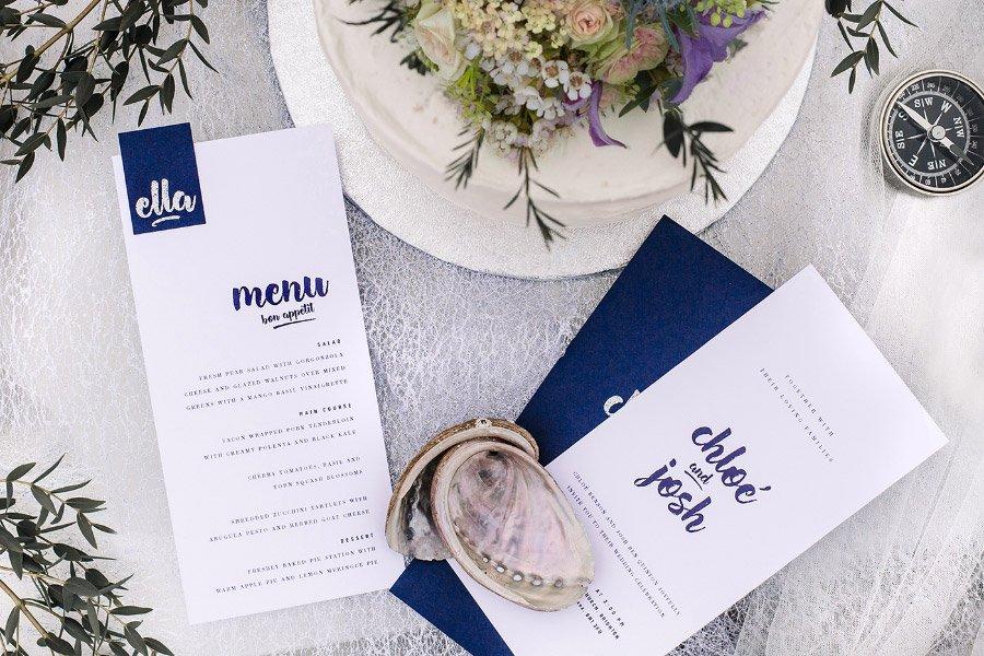 Die Papeterie beim Seabreeze Wedding Shoot