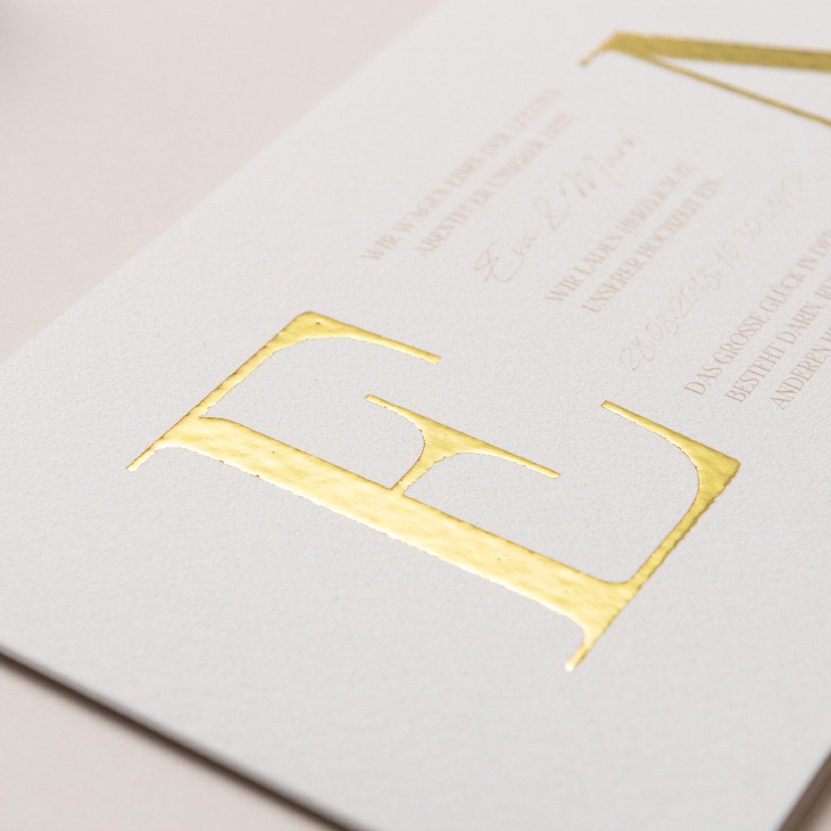 Papelle Golddruck - Glamourös