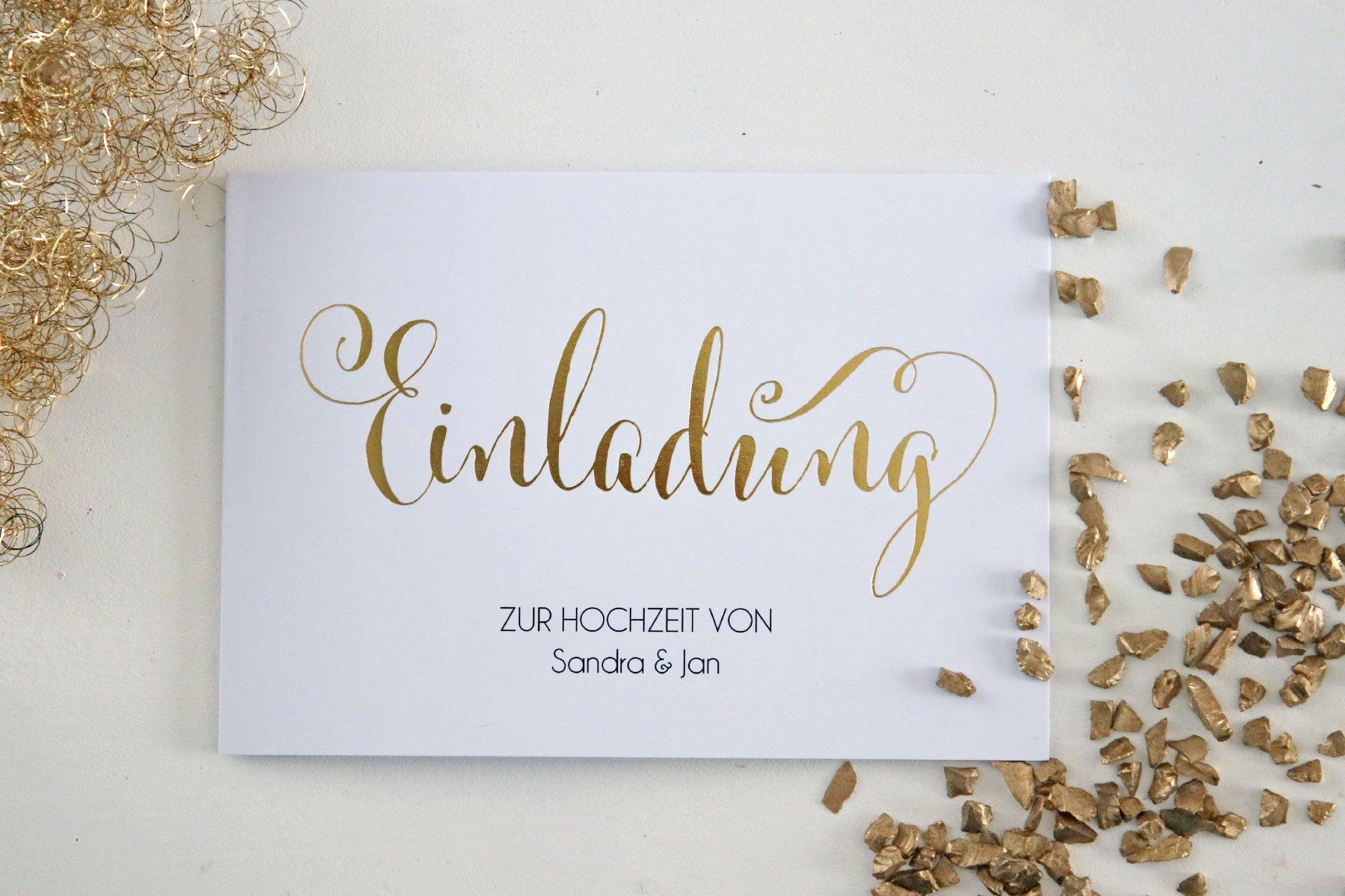 Hochzeitseinladung Für immer Premium von der kartenmacherei