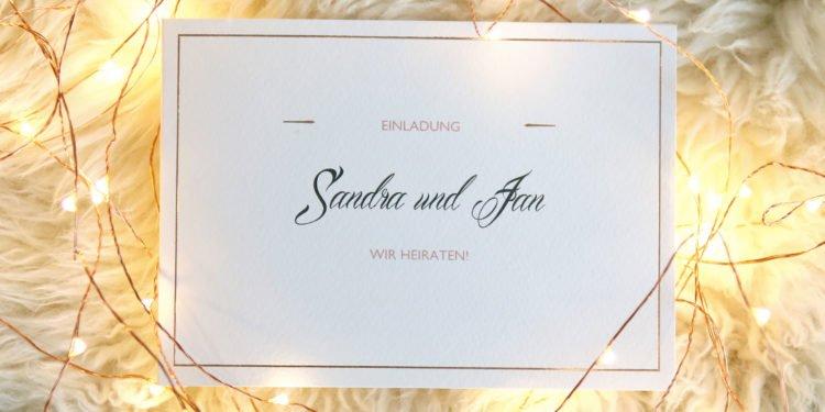 Premium Karten mit Druckveredelung zur klassischen Hochzeit