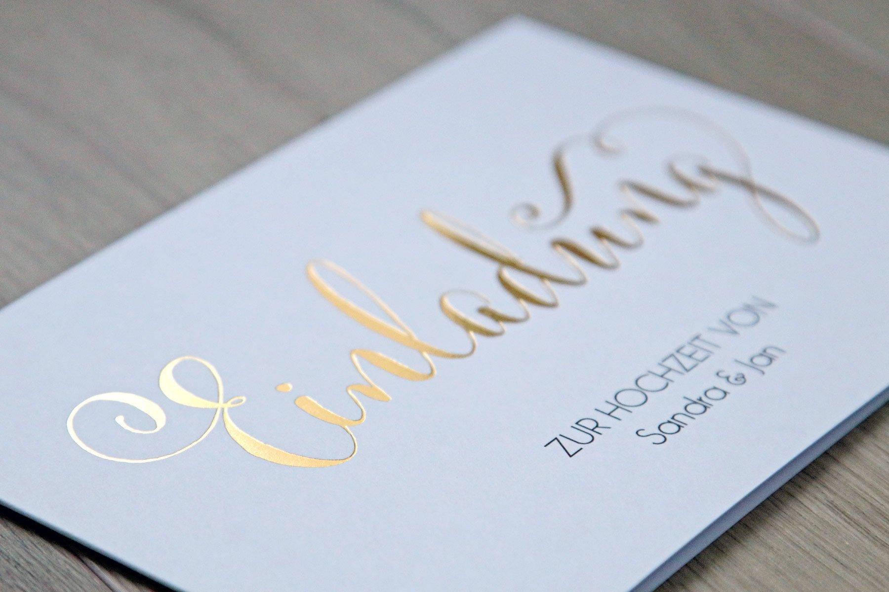 Hochzeitseinladung Für immer Premium von der kartenmacherei im Detail