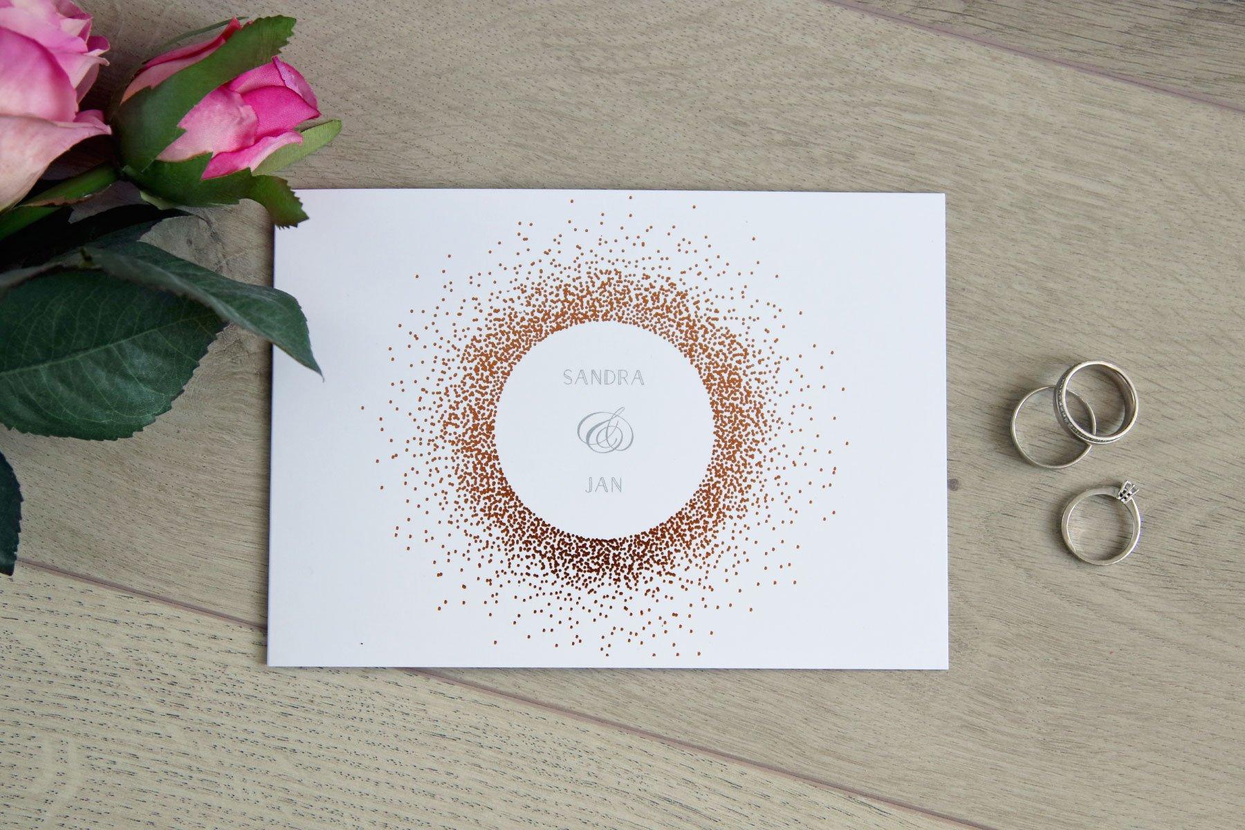 Hochzeitseinladung Glanzvoll Premium von der kartenmacherei