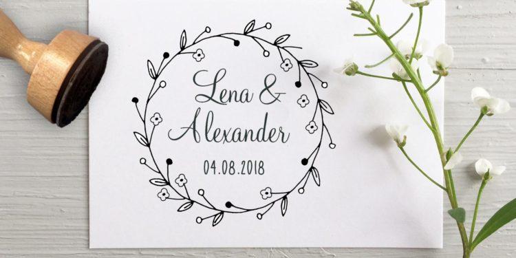 Stempel zur Hochzeit: Für die Einladung, für die Gastgeschenke & mehr
