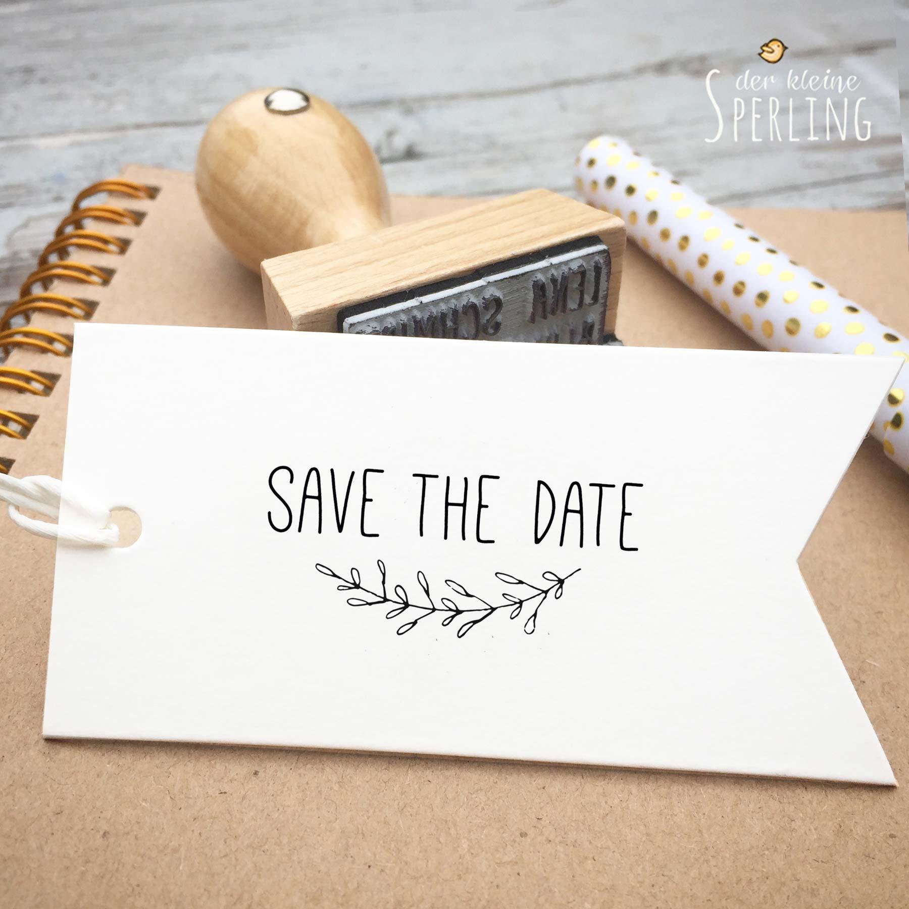 Stempel zur Hochzeit: Save the Date