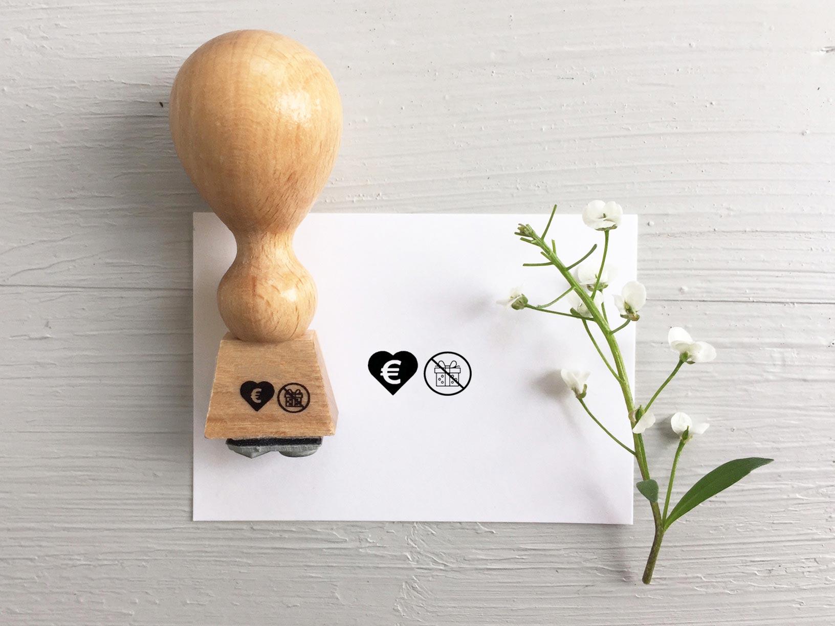 Stempel zur Hochzeit: Geld Geschenk zur Hochzeit