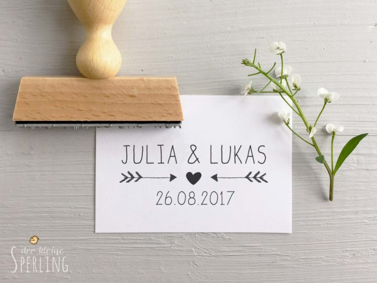 stempel zur hochzeit personalisiert mit namen und datum liebe zur hochzeit. Black Bedroom Furniture Sets. Home Design Ideas