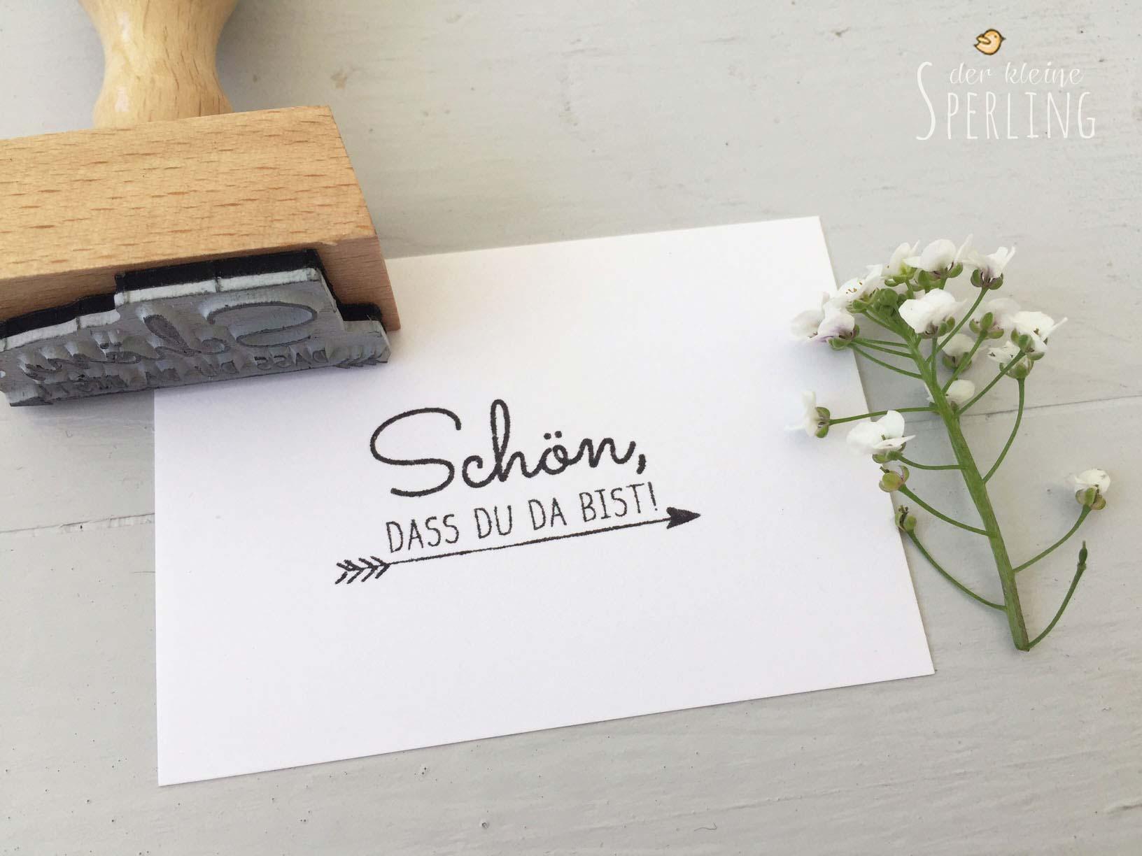 Stempel zur Hochzeit: Schön, dass du da bist!