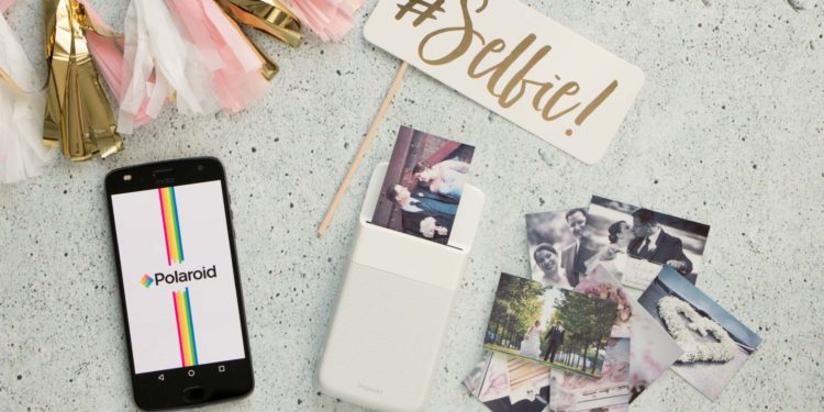 moto z2 play & Polaroid Insta-Share Printer bei der Hochzeit nutzen