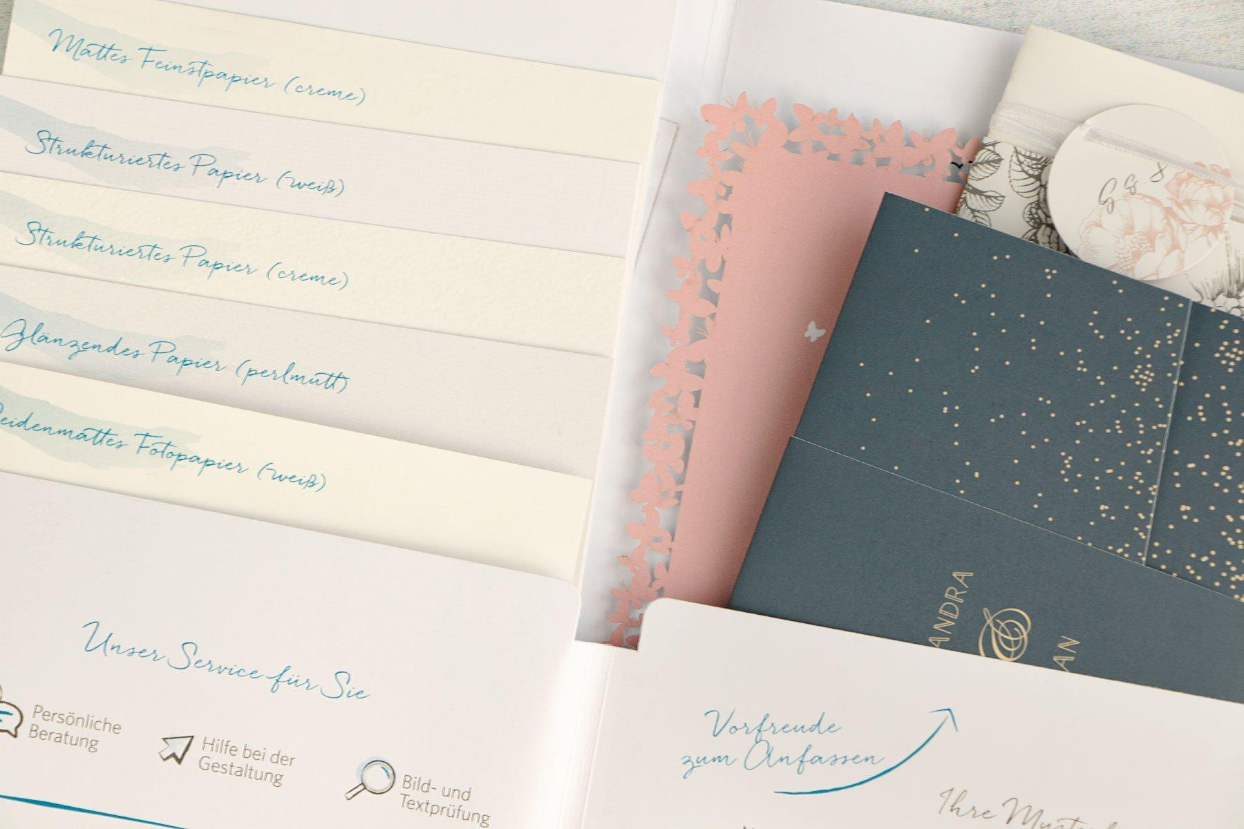 Erfahrungsbericht kartenmacherei: Musterkarten für die Hochzeit