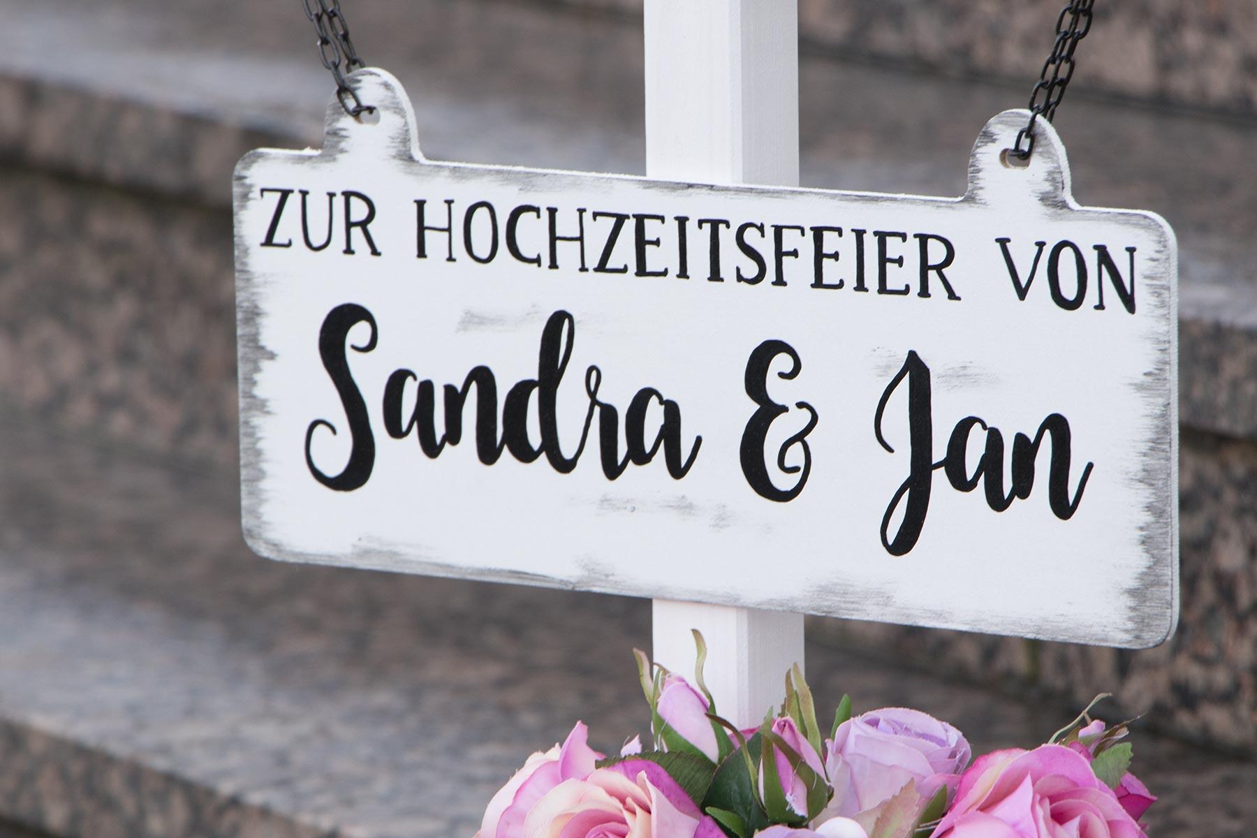 Handbemalte Willkommensschilder Aus Holz Fur Eure Hochzeit
