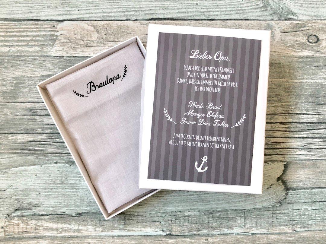 Stoff-Taschentuch als Geschenk für den Opa