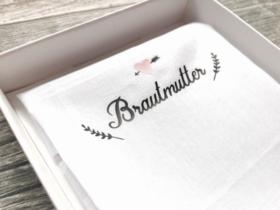 Stoff-Taschentuch als Geschenk für die Brautmutter