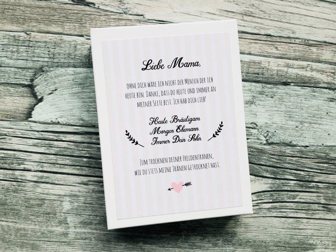 Stoff-Taschentuch als Geschenk für die Mutter vom Bräutigam
