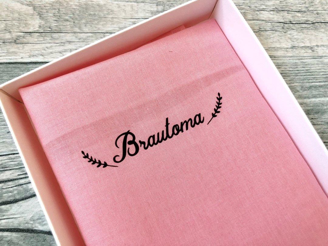 Stoff-Taschentuch als Geschenk für die Brautoma