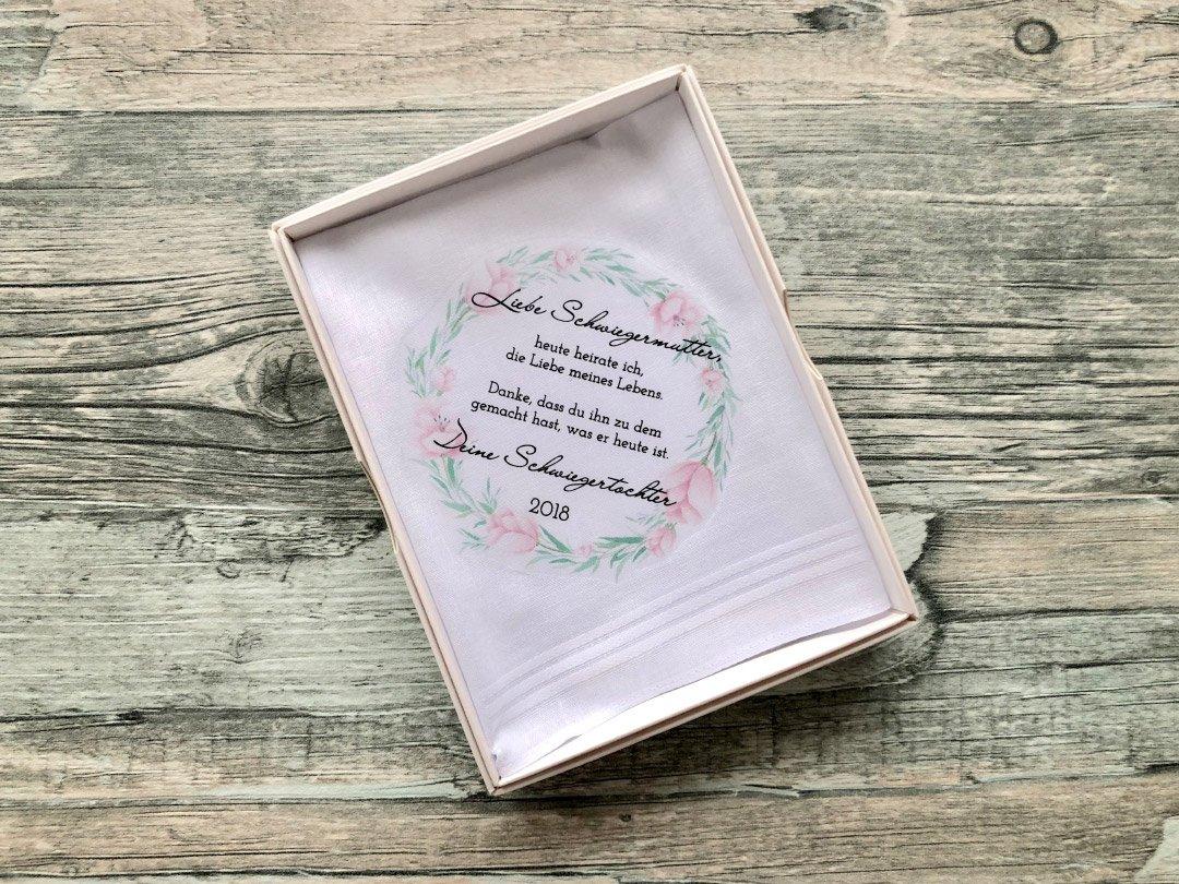 Stoff-Taschentuch als Geschenk für die Schwiegermutter