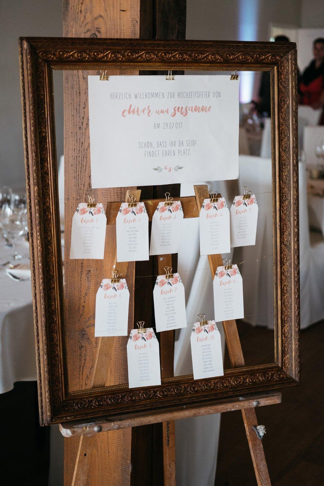 Sitzplan Zur Hochzeit Ideen Beispiele