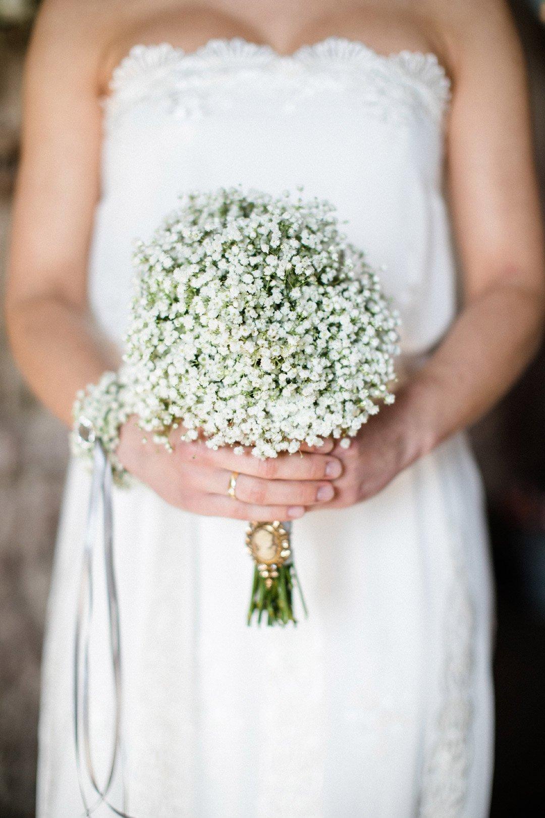 Brautstrauß aus Schleierkraut mit Memorial