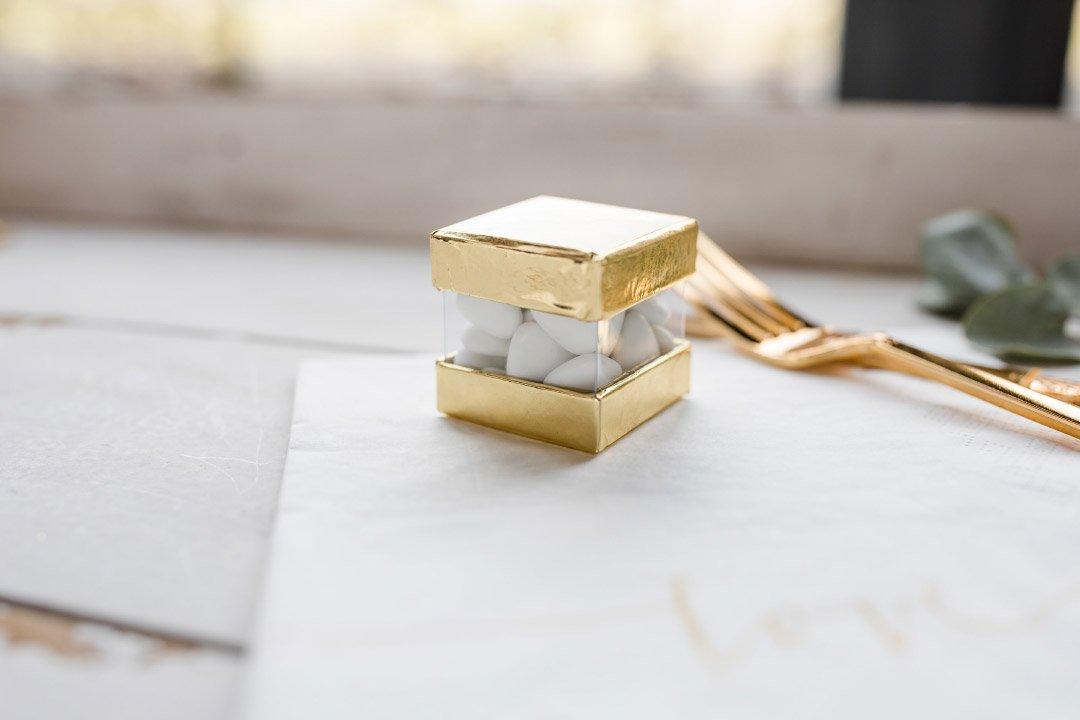 Eine kleine Box für Hochzeitsmandeln