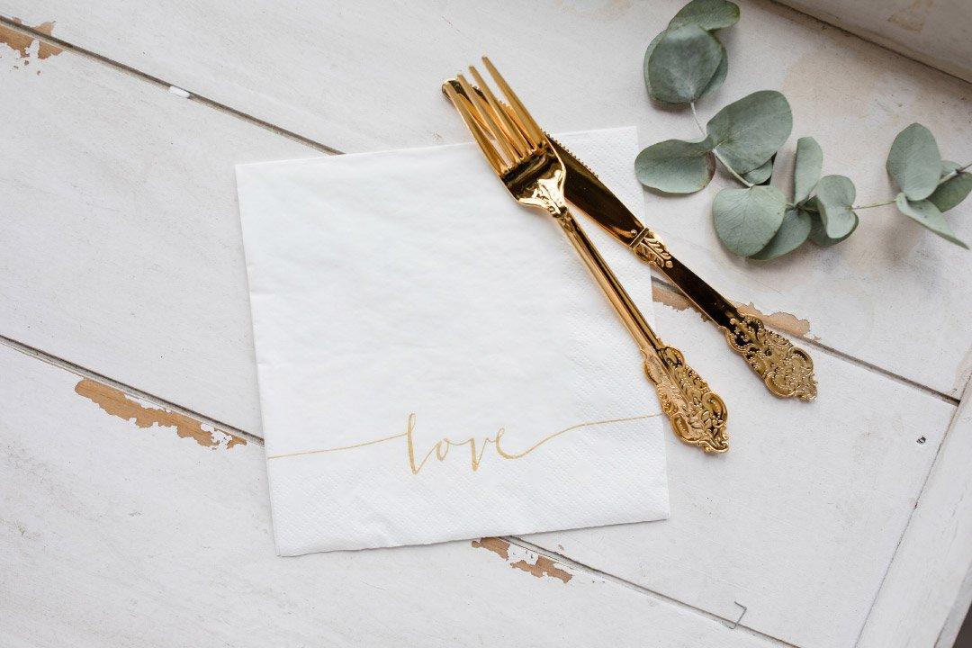 Love Servietten zur Hochzeit