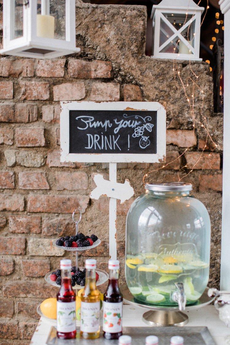Pimp your Drink-Tisch bei der Hochzeit