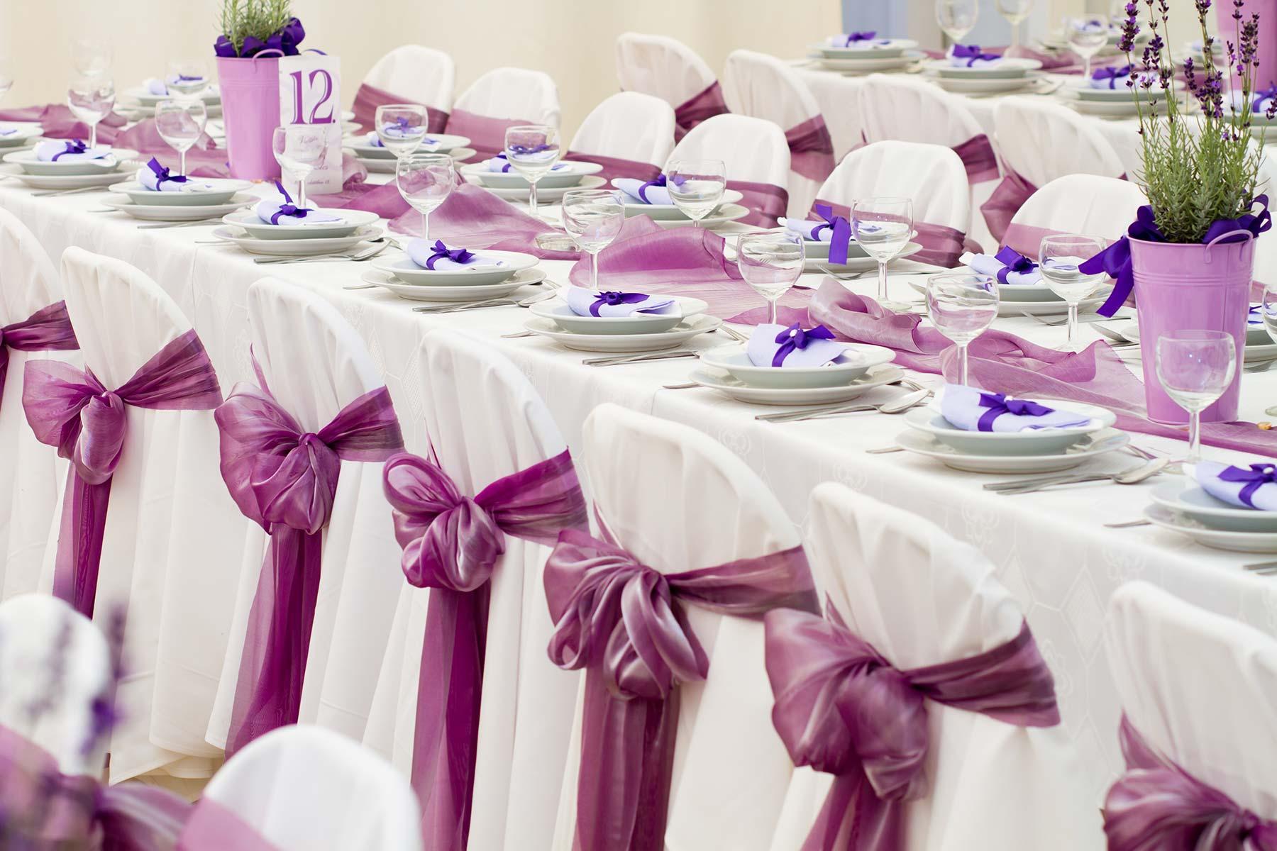 Stuhlschleifen Als Dekoration Bei Der Hochzeitsfeier Liebe Zur