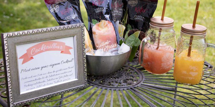 Cocktailbar bei der Hochzeit: Käfer Frozen Cocktails macht es einfach!