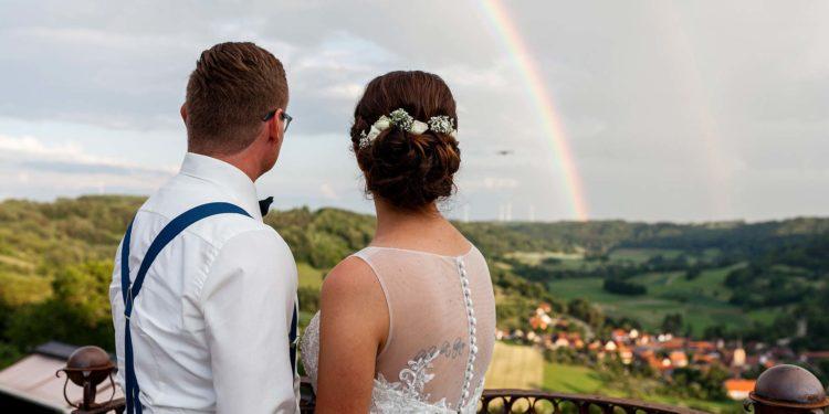 Hochzeit von Nathalie und Marcel auf Schloss Langenburg