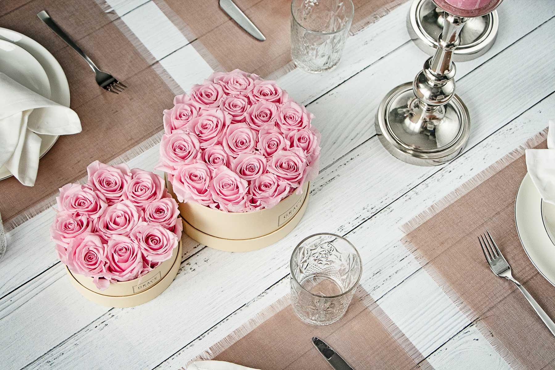 GRACE flowerbox Table Size Kollektion für die Tischdeko bei der Hochzeit