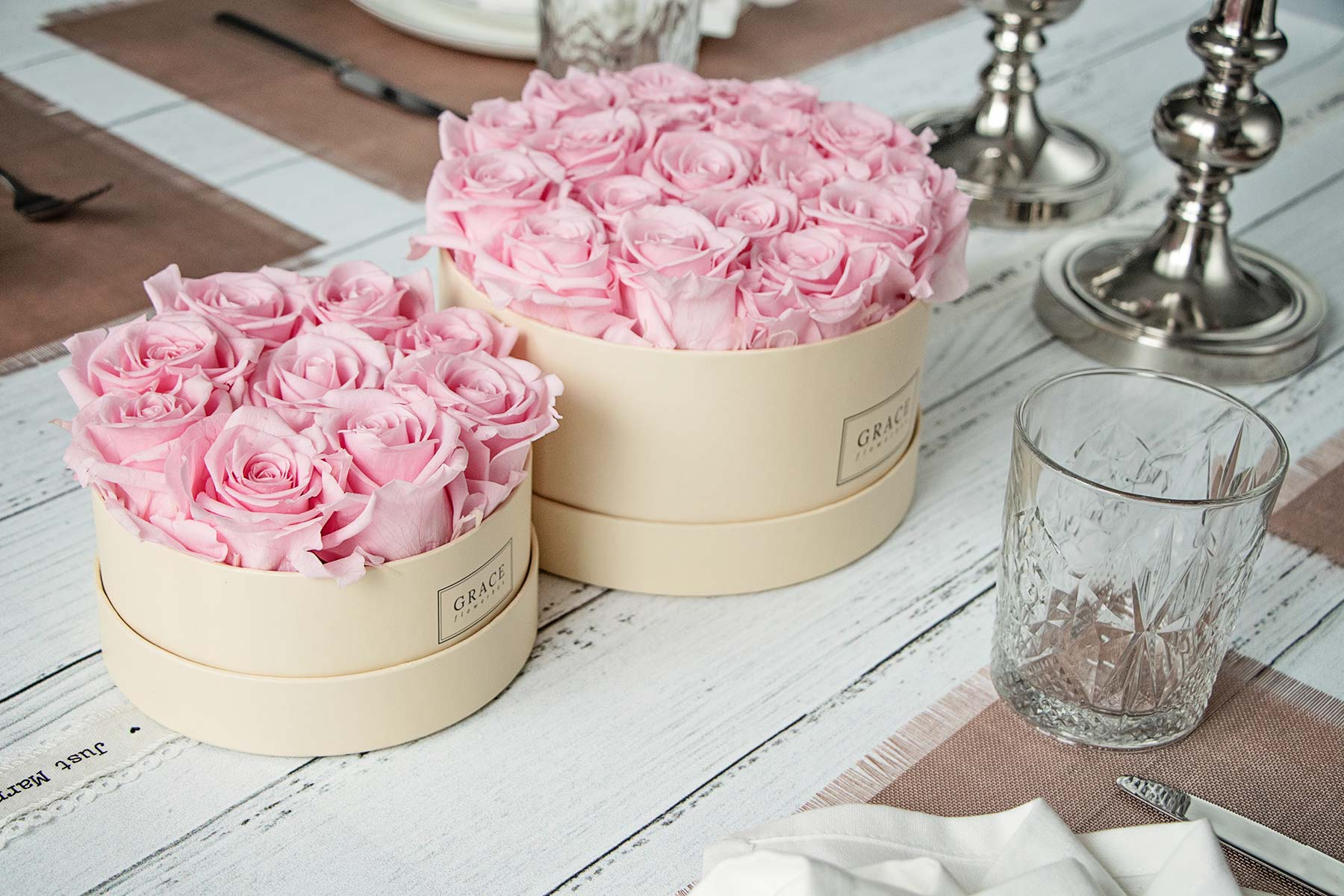 grace flowerbox table size kollektion f r die tischdeko bei der hochzeit. Black Bedroom Furniture Sets. Home Design Ideas