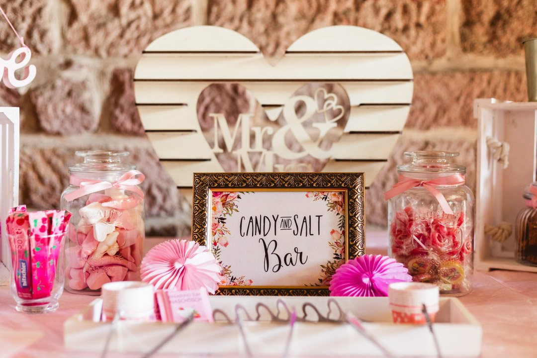 Candybar und Salty Bar bei der Hochzeit von Carolin und Marcus
