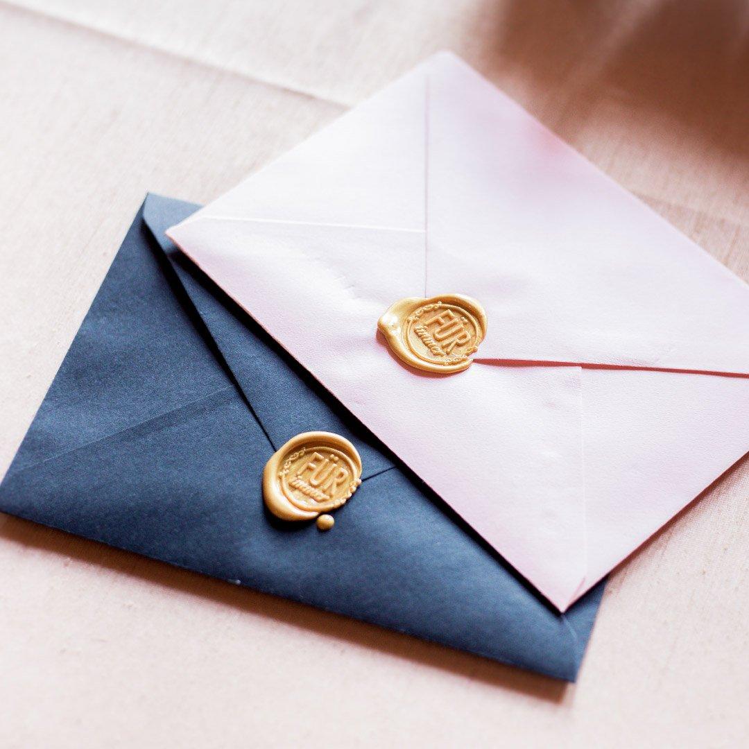 Briefumschläge mit individuellem Siegel