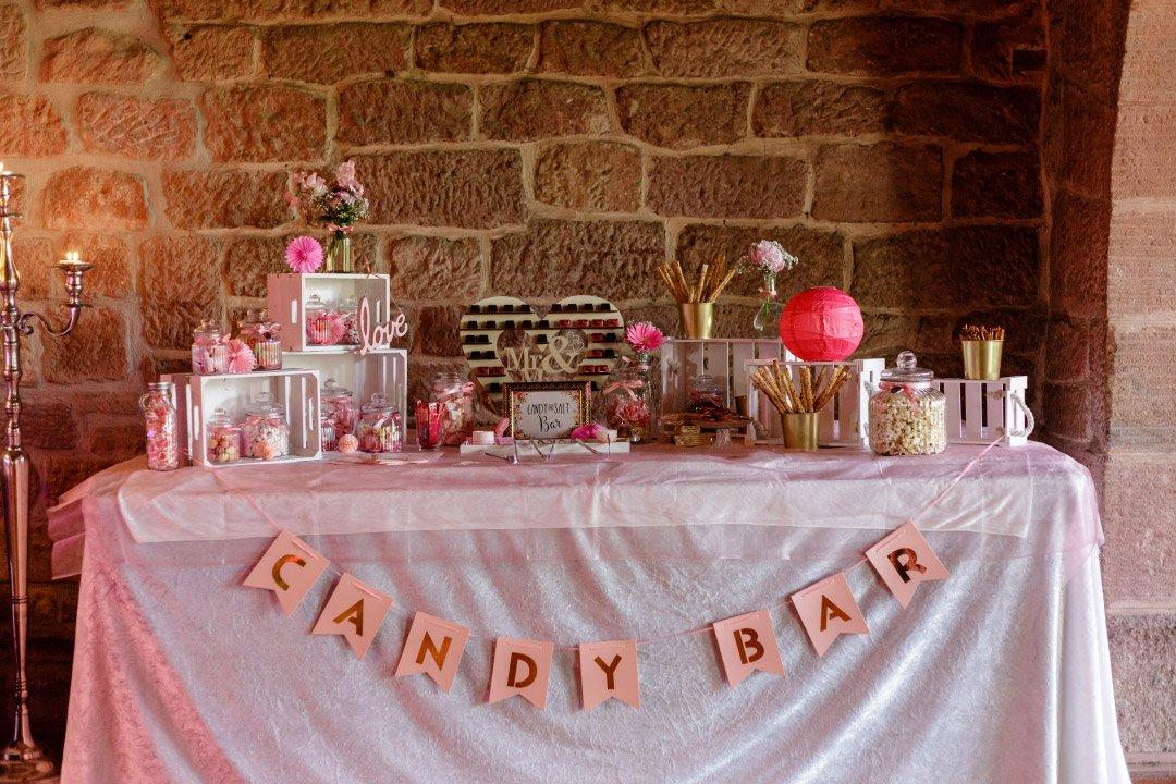 Candybar bei der Hochzeit von Carolin und Marcus