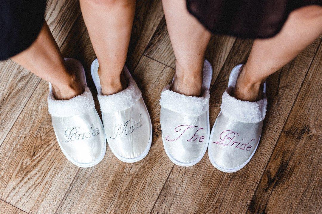 Bride und Bridemaid Pantoffeln