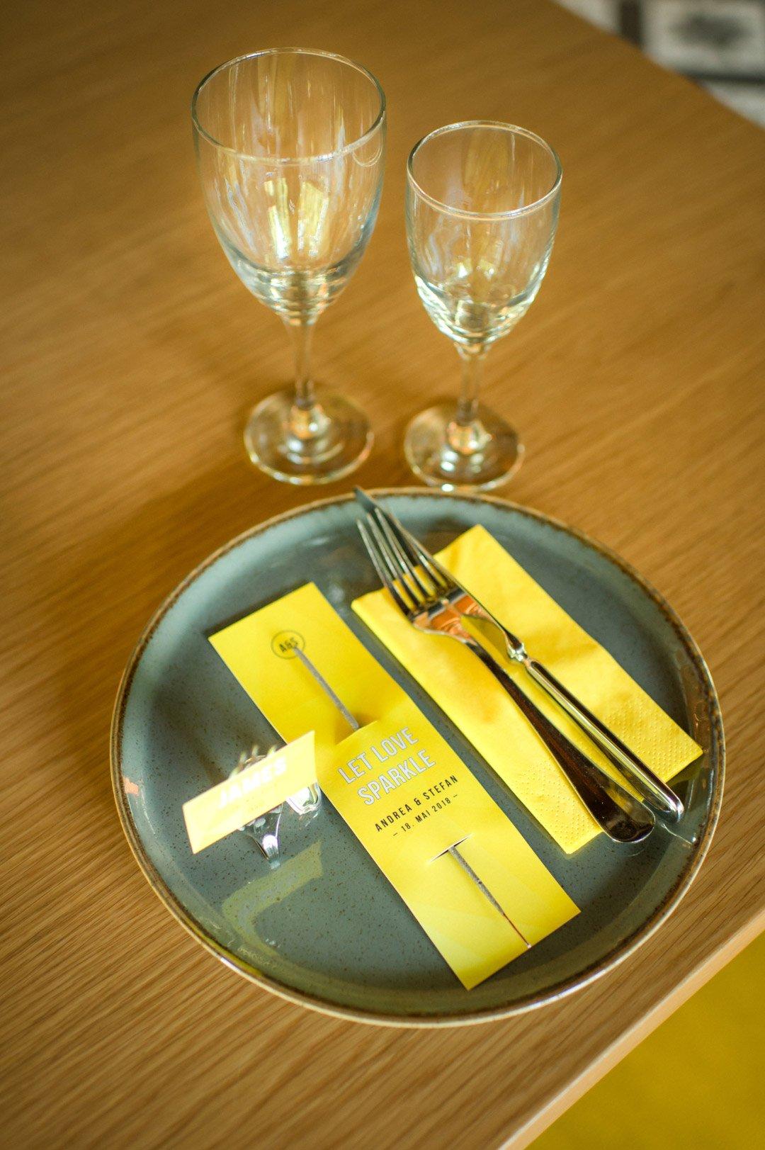 Papeterie zur Hochzeit in Gelb
