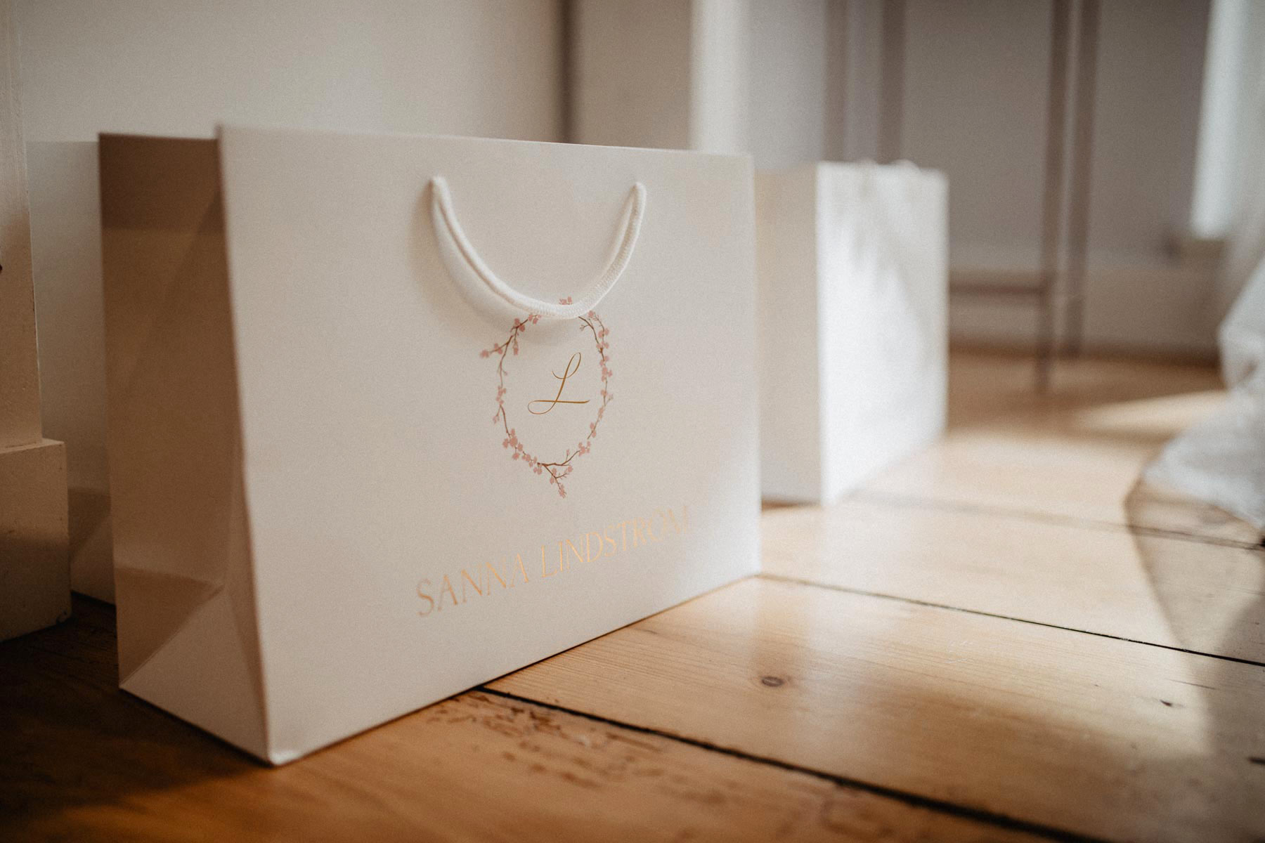 Tasche mit Sanna Lindström Logo