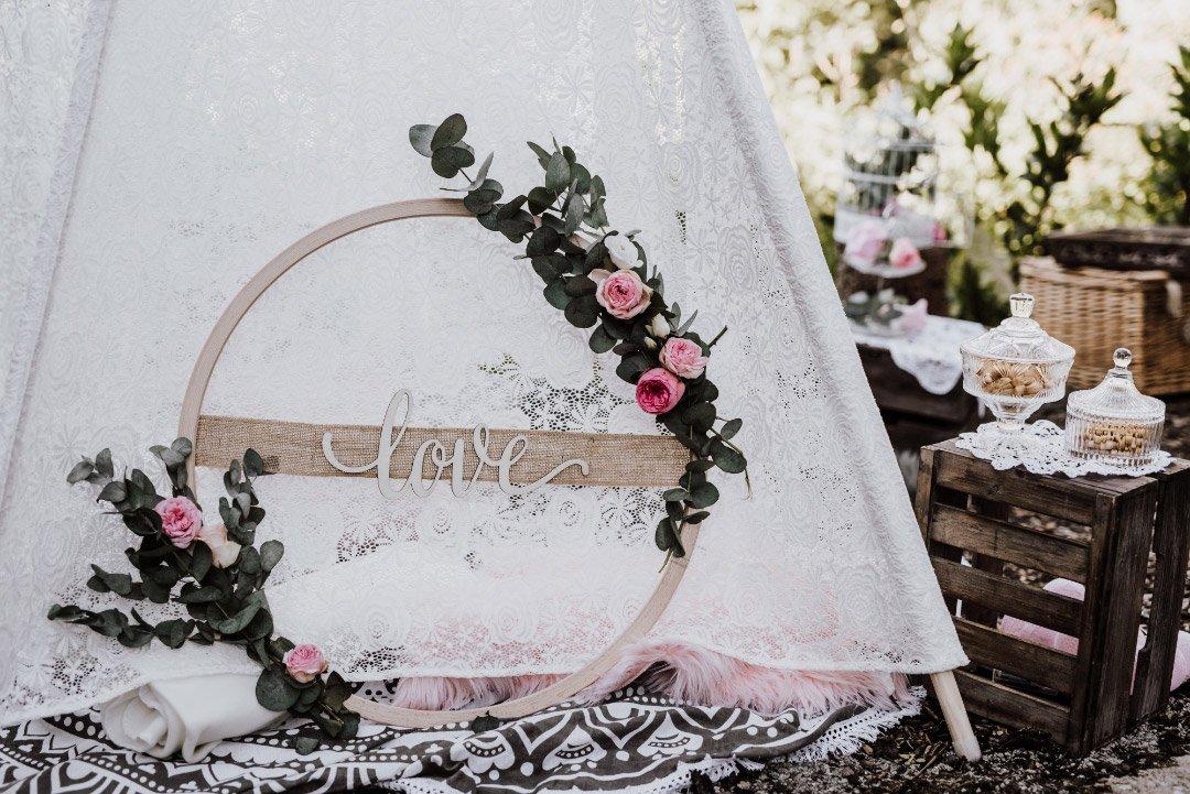 Dekoration bei der Hochzeit