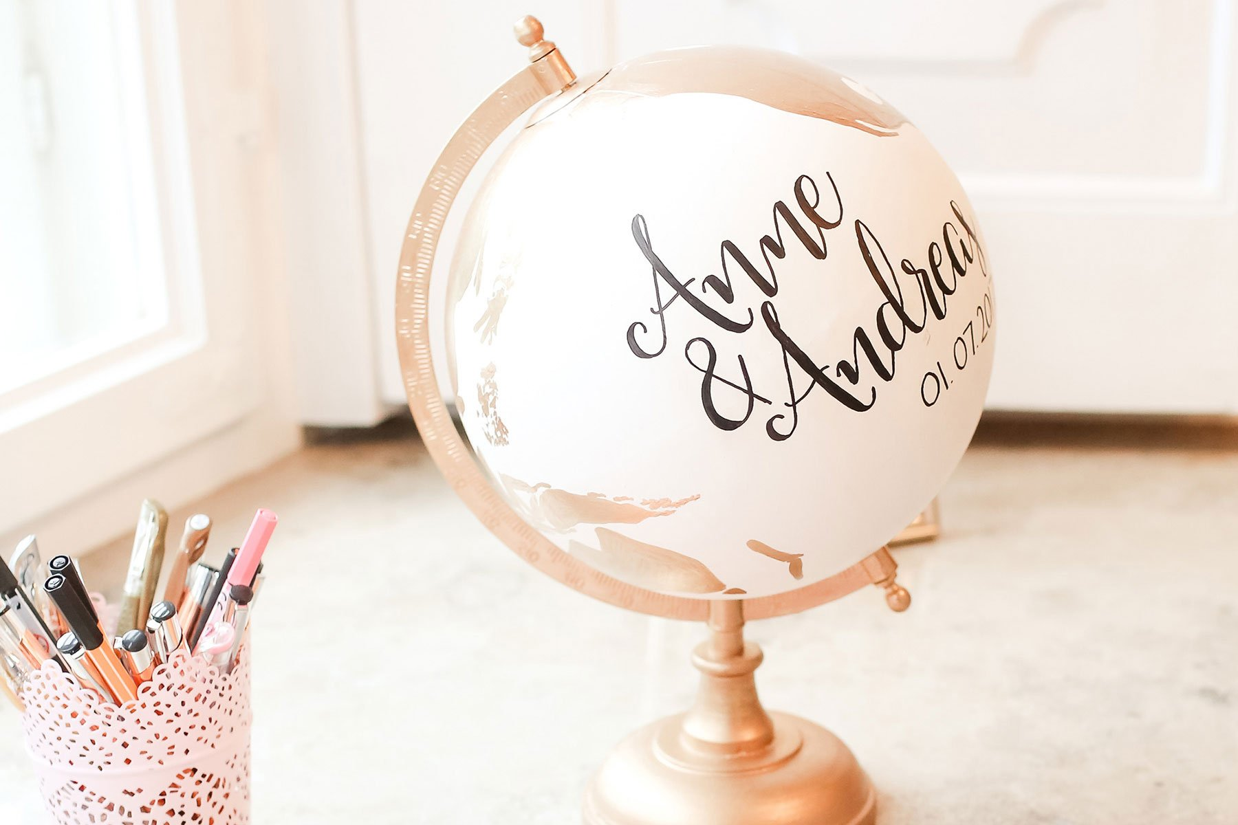 Globus Anmalen Egal Ob Als Geschenk Oder Als Gästebuch Bei
