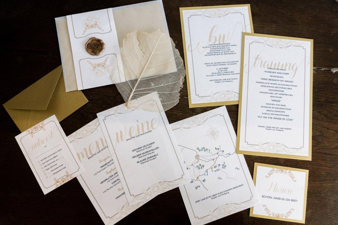 Papeterie zur Goldenen Hochzeit