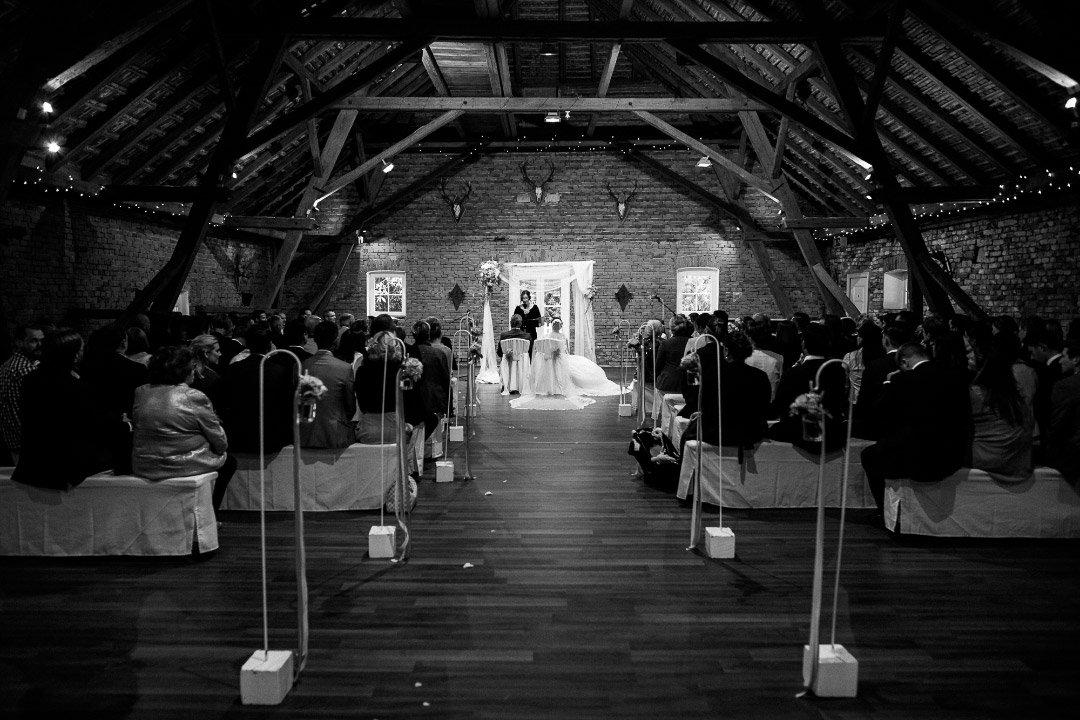 Aufnahme bei der Trauung bei der Hochzeit