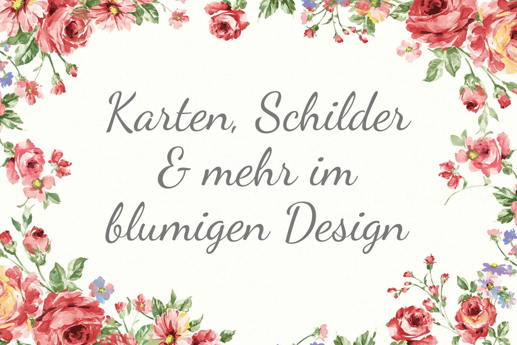 Vorlagen für eure Hochzeit: Karten, Schilder & mehr im blumigen Design