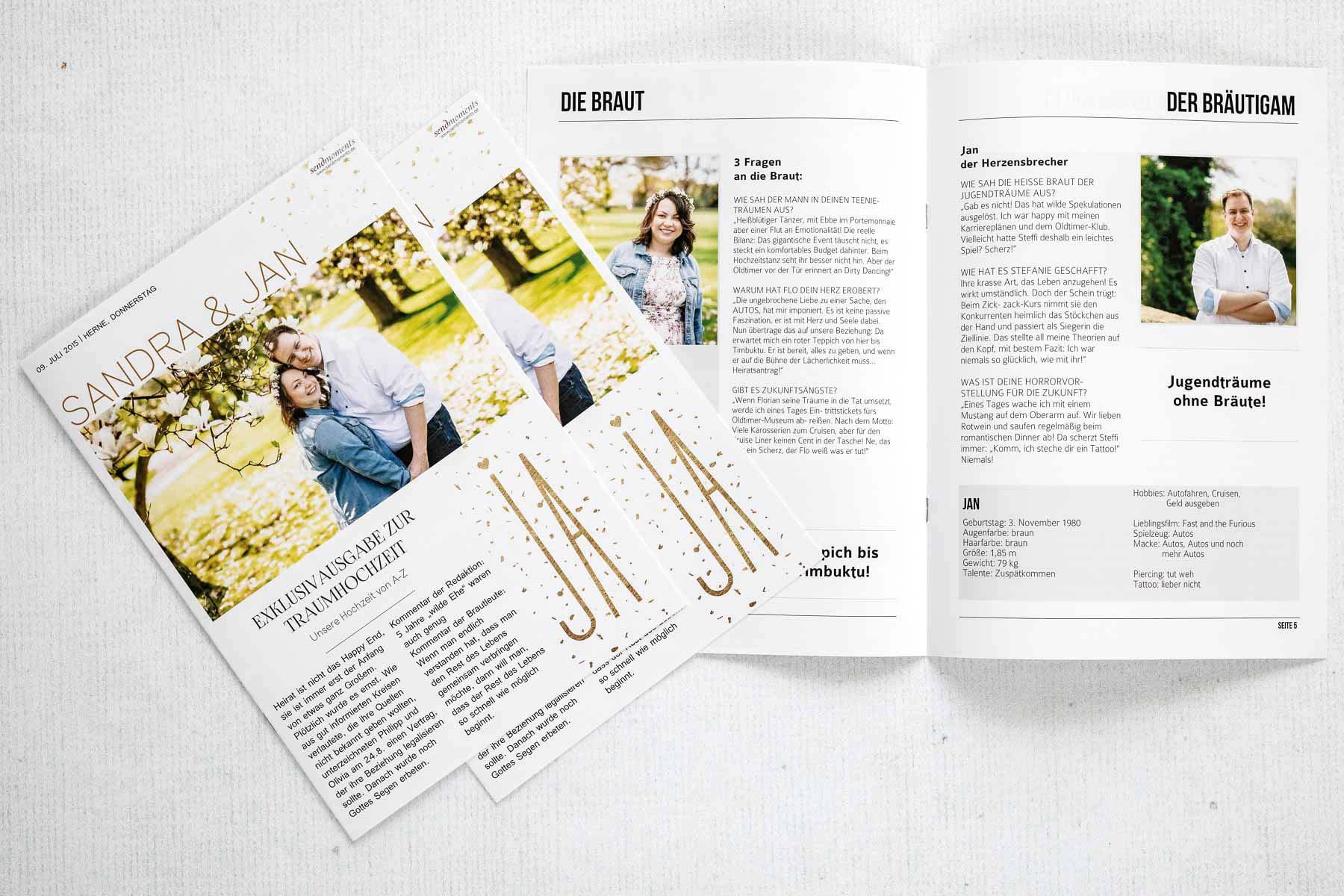 Hochzeitszeitung: Alles was ihr zur Zeitung für die Hochzeit wissen müsst